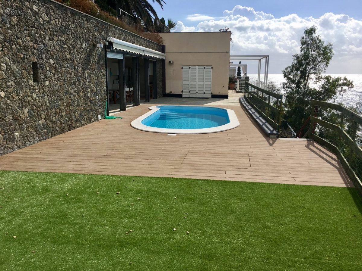 14. Rifacimento strutturale ed aree esterne Villa in pineta Arenzano